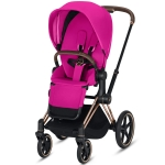 Cybex e-Priam - wózek spacerowy | Fancy Pink