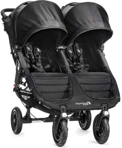 Baby Jogger City Mini Double GT - bliźniaczy wózek  spacerowy | Black/Black