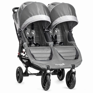 Baby Jogger City Mini Double GT - bliźniaczy wózek  spacerowy | Steel/Gray