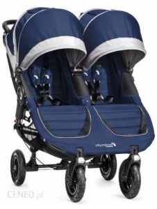 Baby Jogger City Mini Double GT - bliźniaczy wózek  spacerowy | Cobalt/Gray