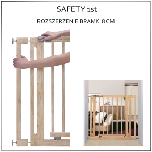 Safety 1st rozszerzenie 8 cm do bramki Easy Close Wood