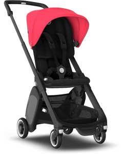 Bugaboo Ant  - mały wózek spacerowy | Black Neon Red Style Set