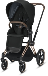 Cybex Priam 2.0 - wózek spacerowy | Deep Black