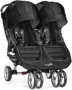 Baby Jogger City Mini Double - bliźniaczy wózek spacerowy | Black & Grey