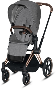 Cybex Priam 2.0 - wózek spacerowy | PLUS Manhattan Grey