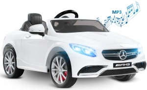Toyz by Caretero Mercedes Benz S63 AMG - auto na akumulator | White
