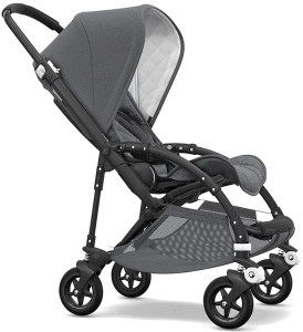 Bugaboo Bee 5 - Classic Collection - wielofunkcyjny wózek spacerowy - Black / Grey Melange