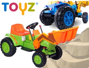 Toyz Bulldozer Koparka Traktor na akumulator MP3 LED