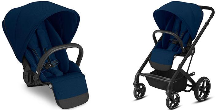 cybex balios s lux 001 - Cybex Balios S Lux - wózek wielofunkcyjny, zestaw 2w1 BLK kolor Deep Black