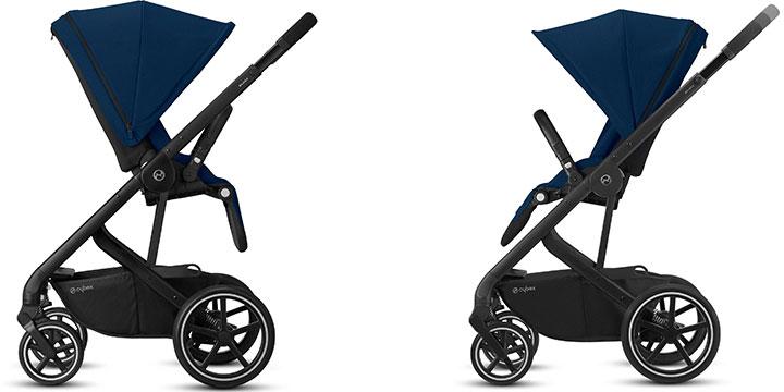 cybex balios s lux 002 - Cybex Balios S Lux - wózek wielofunkcyjny, zestaw 2w1 BLK kolor Deep Black