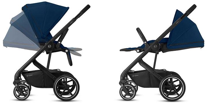 cybex balios s lux 003 - Cybex Balios S Lux - wózek wielofunkcyjny, zestaw 2w1 BLK kolor Deep Black