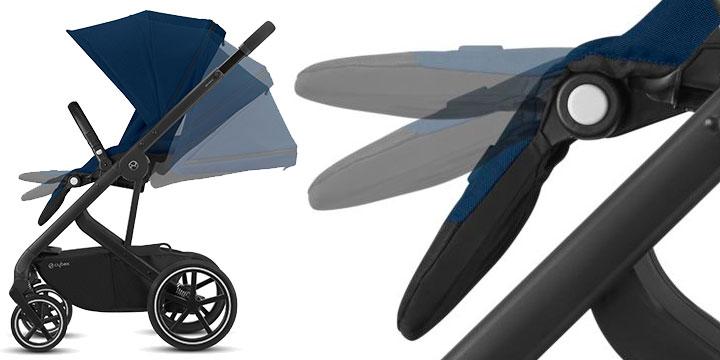 cybex balios s lux 004 - Cybex Balios S Lux - wózek wielofunkcyjny, zestaw 2w1 BLK kolor Deep Black