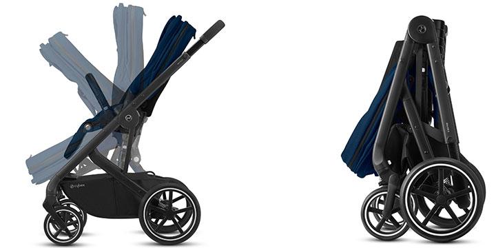 cybex balios s lux 007 - Cybex Balios S Lux - wózek wielofunkcyjny, zestaw 2w1 BLK kolor Deep Black