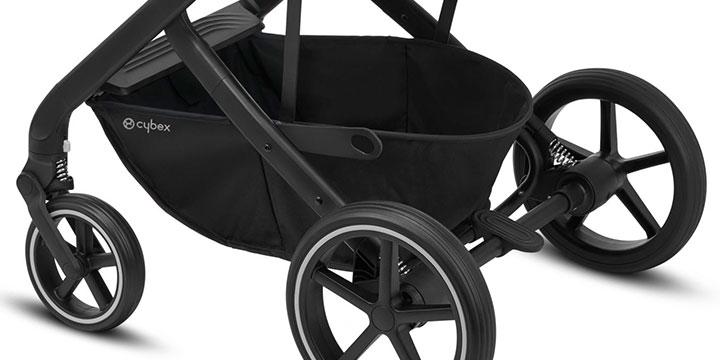 cybex balios s lux 008 - Cybex Balios S Lux - wózek wielofunkcyjny, zestaw 2w1 BLK kolor Deep Black