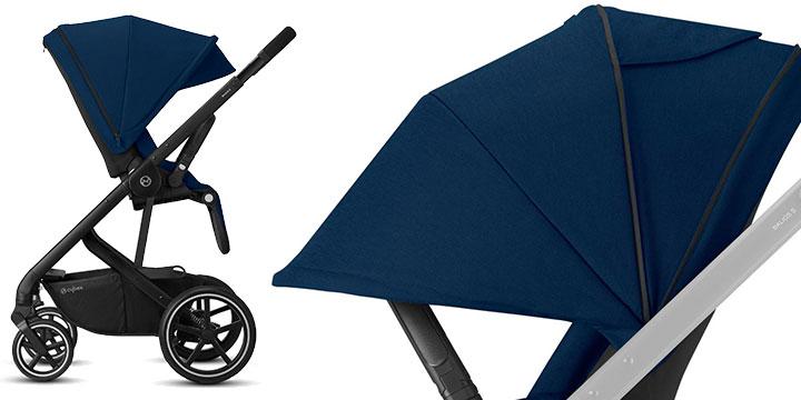cybex balios s lux 009 - Cybex Balios S Lux - wózek wielofunkcyjny, zestaw 2w1 BLK kolor Deep Black