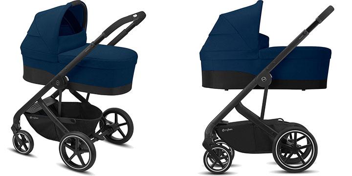 cybex balios s lux 010 - Cybex Balios S Lux - wózek wielofunkcyjny, zestaw 2w1 BLK kolor Deep Black