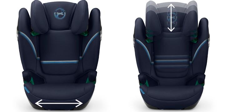 c02 - Cybex Solution S i-Fix - fotelik samochodowy 15-36 kg kolor Granite Black