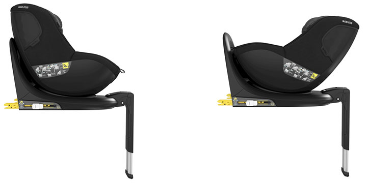 maxi cosi mica 002 - Maxi-Cosi Mica 40 do 105 cm/18 kg obrotowy fotelik samochodowy kolor Authentic Graphite