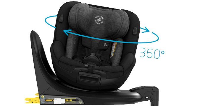 maxi cosi mica 003 - Maxi-Cosi Mica 40 do 105 cm/18 kg obrotowy fotelik samochodowy kolor Authentic Graphite