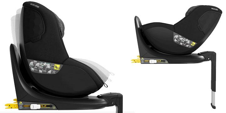 maxi cosi mica 004 - Maxi-Cosi Mica 40 do 105 cm/18 kg obrotowy fotelik samochodowy kolor Authentic Graphite