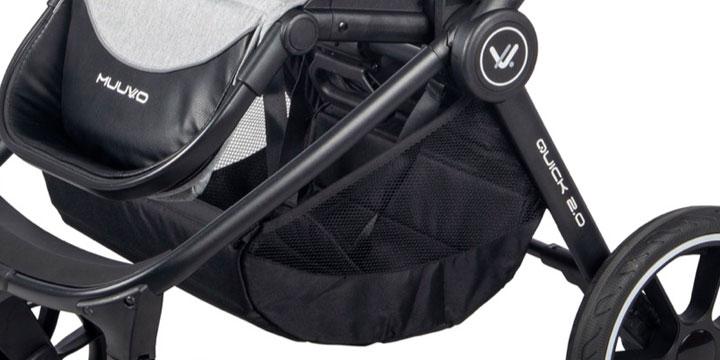 muuvo quick 2 0 005 - Muuvo Quick 2.0 - wózek wielofunkcyjny, zestaw 2w1 z gondolą klasyczną kolor Deep Sea Blue