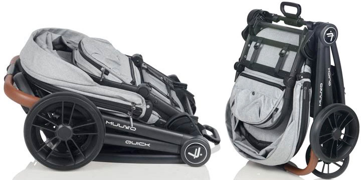 muuvo quick 012 - Muuvo Quick 2.0 - wózek wielofunkcyjny, zestaw 2w1 z gondolą klasyczną kolor Deep Sea Blue