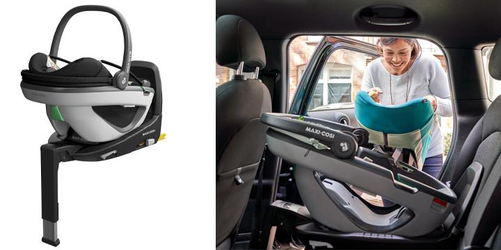 c05 - Maxi Cosi Coral + FamilyFix 3 - lekki fotelik samochodowy i-Size, zestaw z bazą kolor Essential Blue