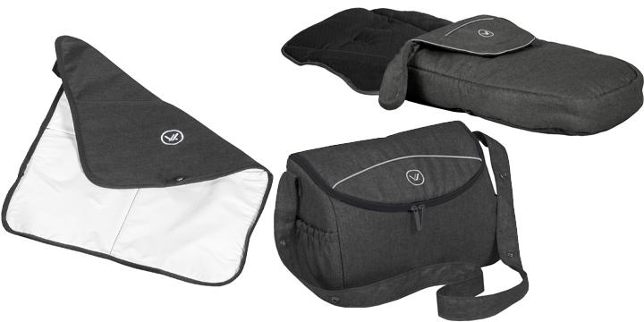 c02 - Muuvo Quick 2.0 - wózek wielofunkcyjny, zestaw 2w1 gondolą klasyczną kolor Black Chrome Indigo Blue