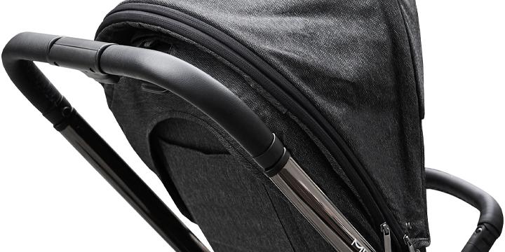 c06 - Muuvo Quick 2.0 - wózek wielofunkcyjny, zestaw 2w1 gondolą klasyczną kolor Black Chrome Indigo Blue