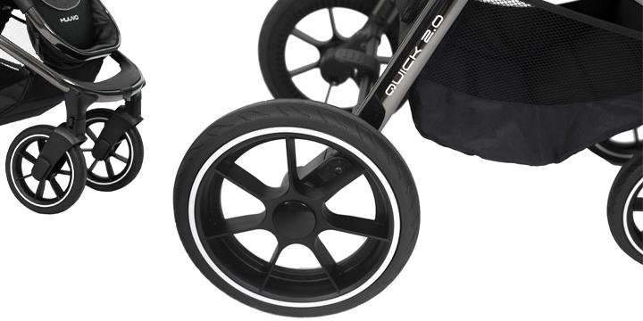c10 - Muuvo Quick 2.0 - wózek wielofunkcyjny, zestaw 2w1 gondolą klasyczną kolor Black Chrome Indigo Blue